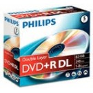 Philips DVD+R Double layer 8,5GB 8xspeed jewel case 5 stk