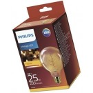 Philips LED lamp E27 5Watt 250Lm grote bol flame vintage