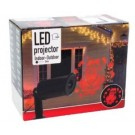 Led projector kerstman rood