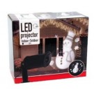 Led projector sneeuwman wit