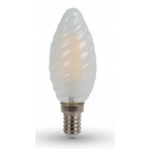 VT-1928-7107 Vtac led filament kaars gedraaid E14 warm wit 4Watt